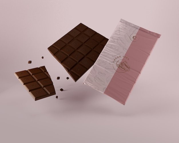 Plastic wrap for chocolate tablet