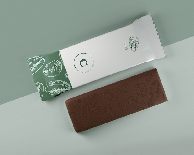 Plastic wrapping for chocolate bar