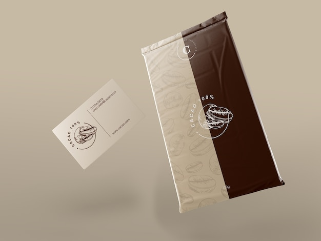 Plastic wrapping for chocolate tablet