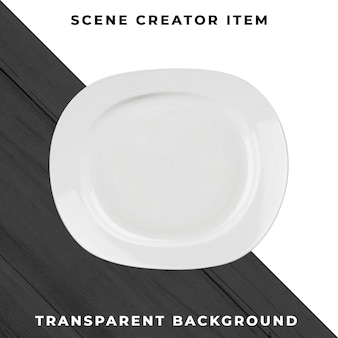 Plate object transparent psd