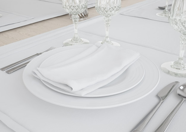 Plates and tablecloth set