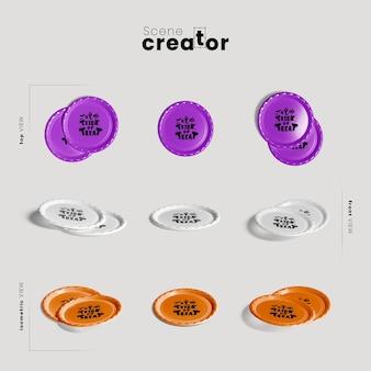 Плиты различных ракурсов создателя сцены хэллоуина Бесплатные Psd