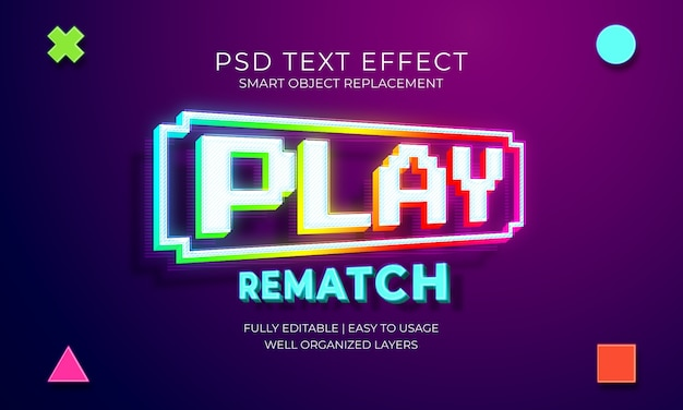 Play game text effect template