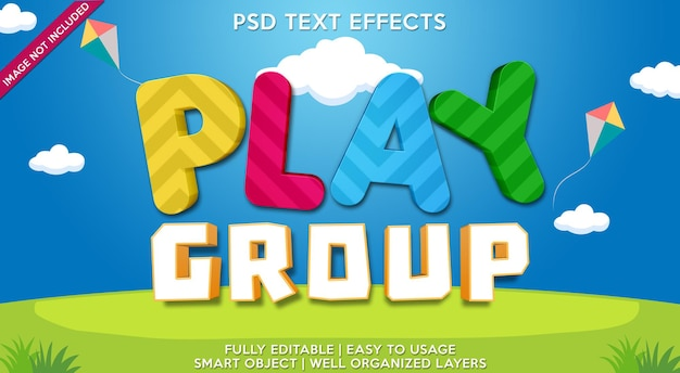 Play group text effect