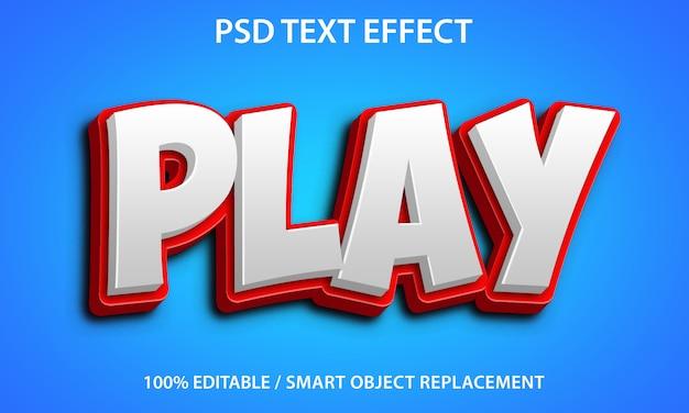 Воспроизвести текстовый эффект