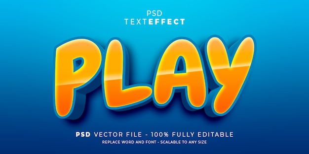 Play text and font effect style editable template