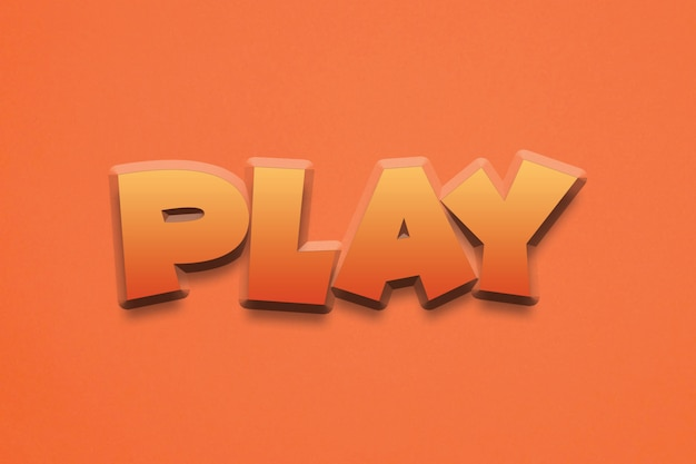 Play  typography text effect design