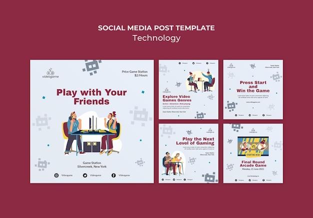 Gioca con i post sui social media degli amici