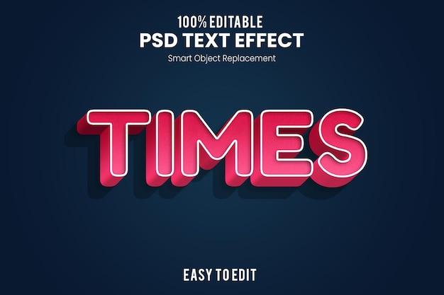 Игривый и веселый рендеринг 3d текстового эффекта