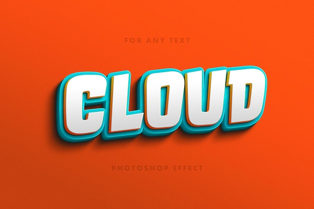 Playful cartoon letters text effect