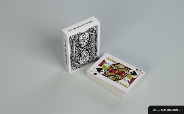 Playing card with box mockup design