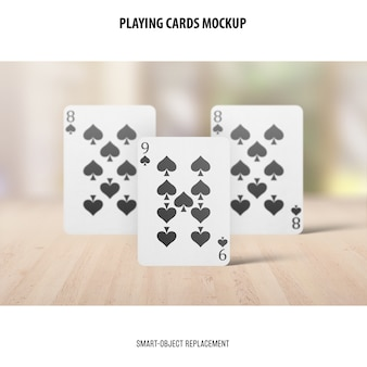 Playing cards mockup