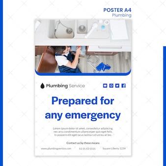 Impianto idraulico per qualsiasi poster di emergenza