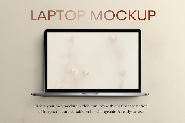 Png computer laptop mockup on transparent background