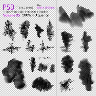 Png watercolor photoshop brushes