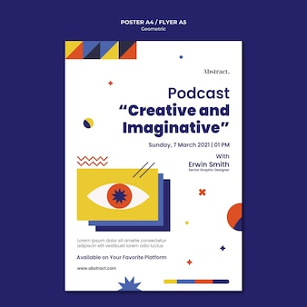 Podcast poster template