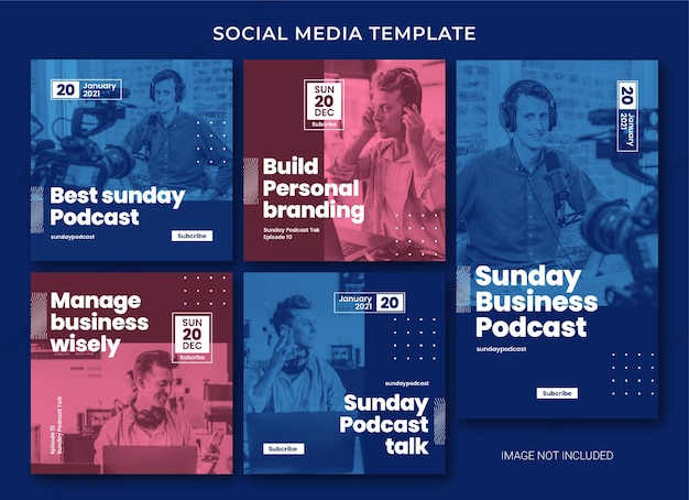 Podcast social media bundle template