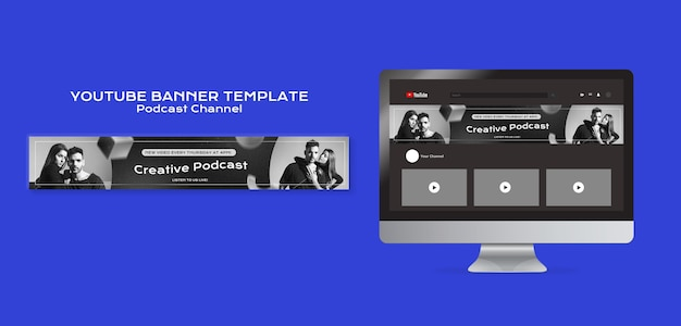 Podcast youtube banner template