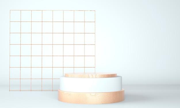Podium design presentation in 3d rendering