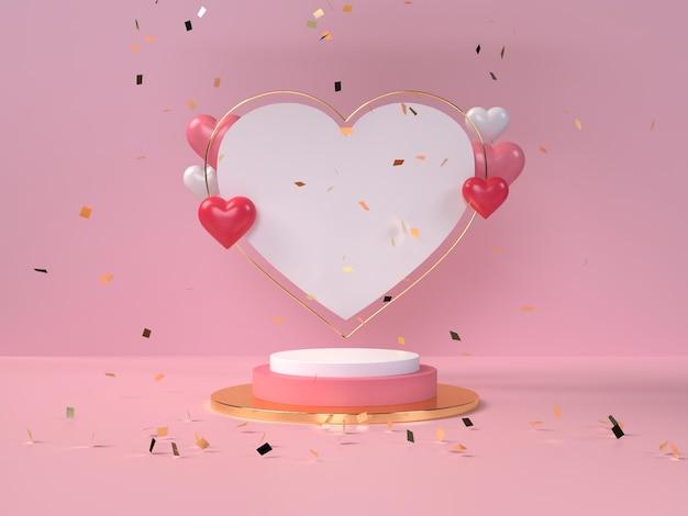발렌타인 데이 제품 배치를위한 연단
