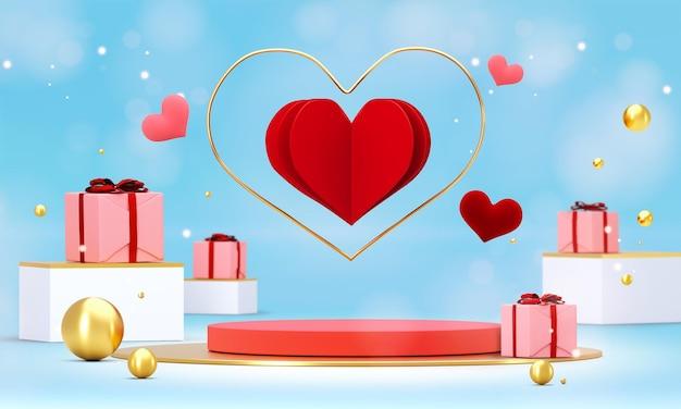 발렌타인 데이 장식 연단