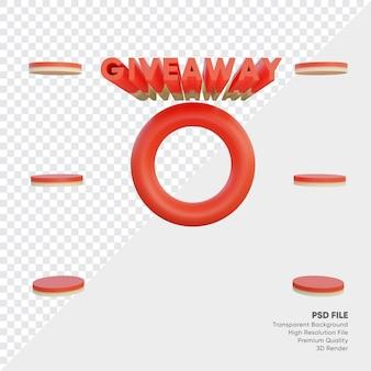 Podium online shop for giveaway prize list 3d rendered