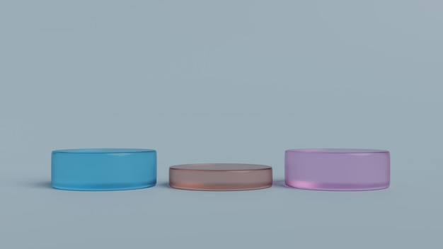 Podium scene or pillar stand for minimal pastel background 3d render