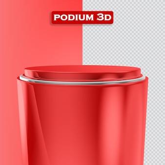 연단 투명 3d 렌더링