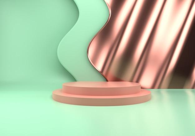 3d 렌더링에서 제품 프레젠테이션을위한 연단 사용