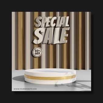 Podium for your product with special sale text