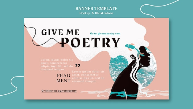 Poetry ad banner template