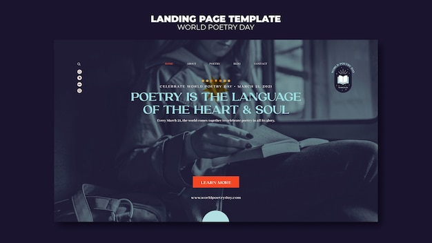 Poetry day landing page