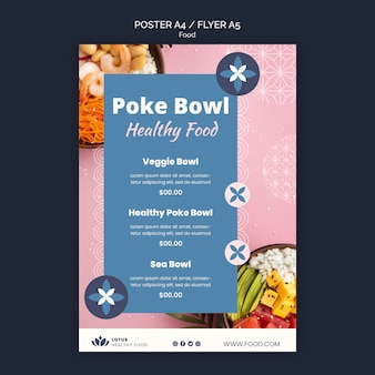 포크 그릇 식사 포스터 디자인 서식 파일