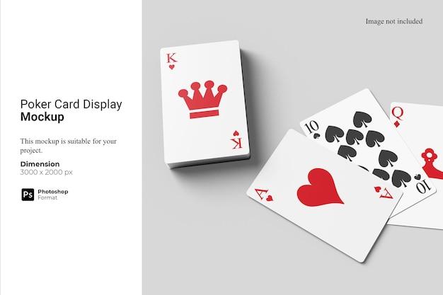 포커 카드 디스플레이 모형