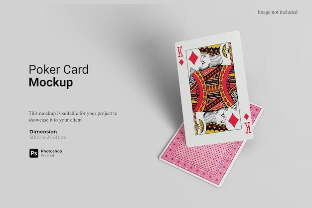 포커 카드 목업 디자인 렌더링
