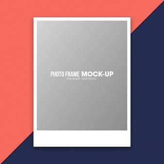 Шаблон макета для фоторамки polaroid