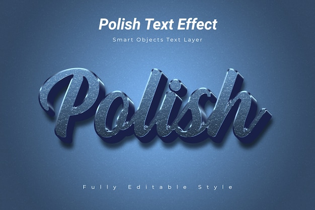 Polish text effect