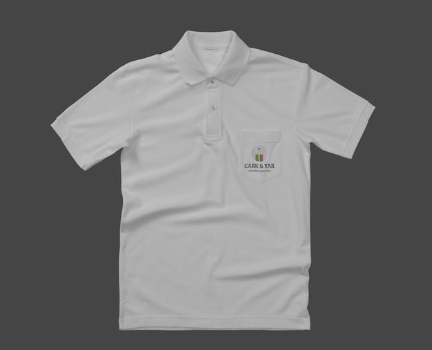 Дизайн макета рубашки поло с карманом