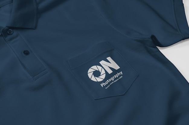 Polo shirt mockup design with pocket