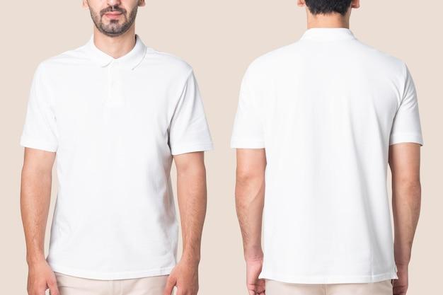 폴로 셔츠 모형 psd 남성 캐주얼 비즈니스웨어