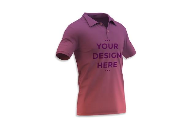 Polo shirt showcase mockup