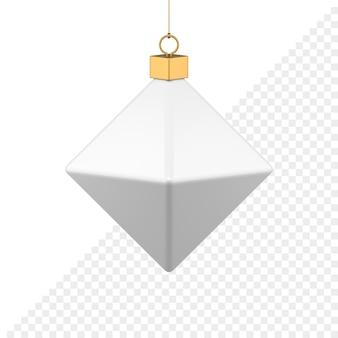 Полигональные рождественские безделушки 3d значок