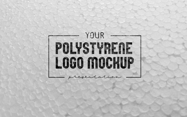 Polystyrene foam logo mockup