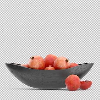 Pomegranate 3d render