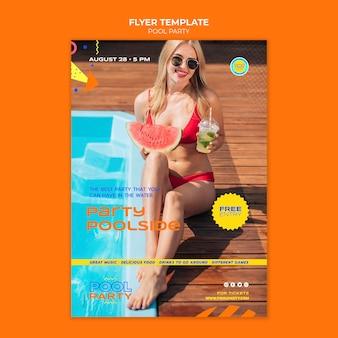 Modello di stampa per feste in piscina Psd Gratuite