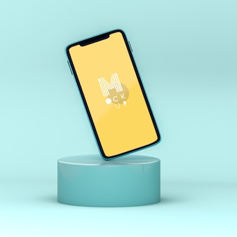 Mockup di telefono pop 3d