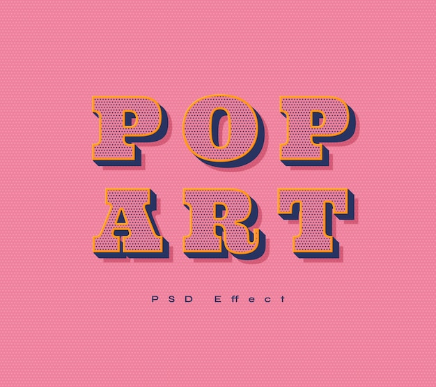 Pop art text effect