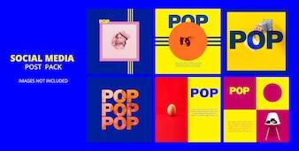 POPソーシャルメディアテンプレートポストパック