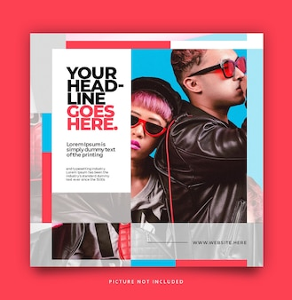 Pop up modern simple social media instagram template