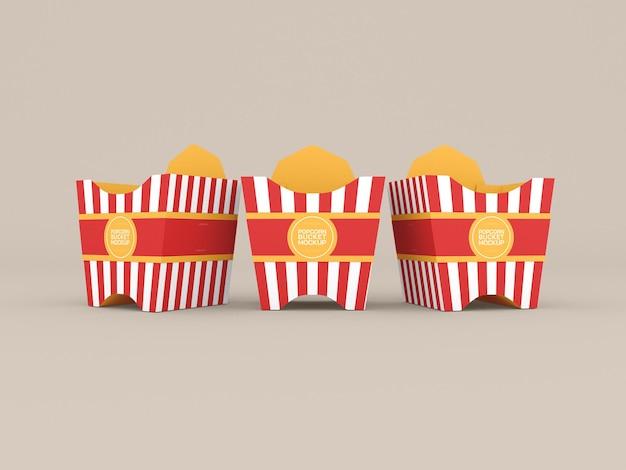 Popcorn boxes mockup